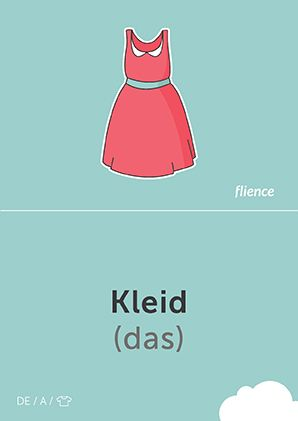 Kleid #CardFly #flience #clothes #german #education #flashcard #language