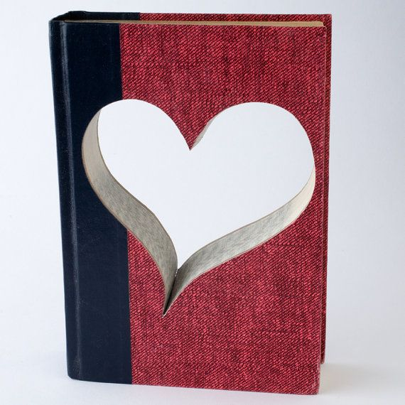 Reader's Digest Valentine Heart Book Handcrafted, Heart Shaped Salvaged Book, Valentine Gift for Him or Her, Made to Order on Etsy, $19.00