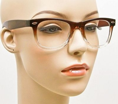 chic wayfarer brown gradient clear sexy glasses eyeglasses frames 1126 brg on ebay