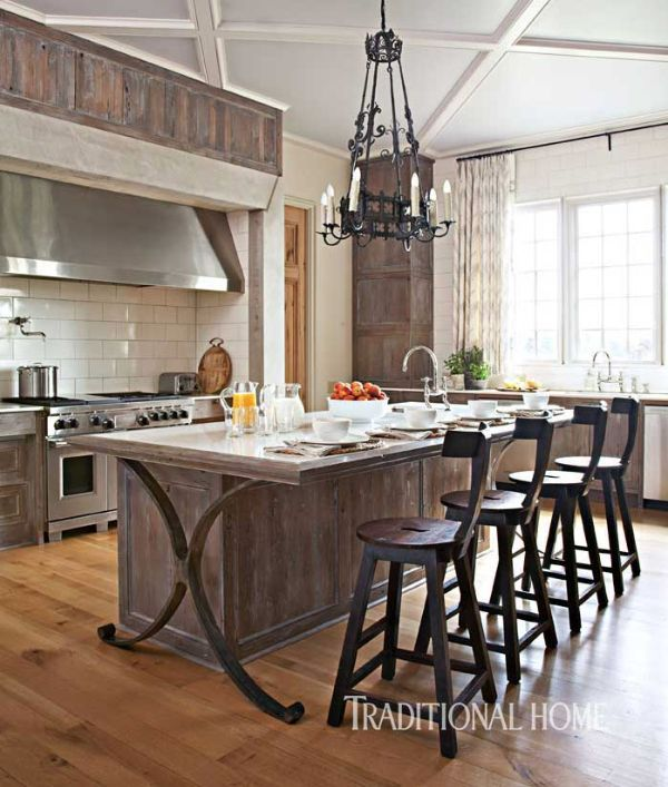 Bungalow Interior Design Kitchen: Pecky Cypress Cabinets Are Finished With A Lime Wash. The