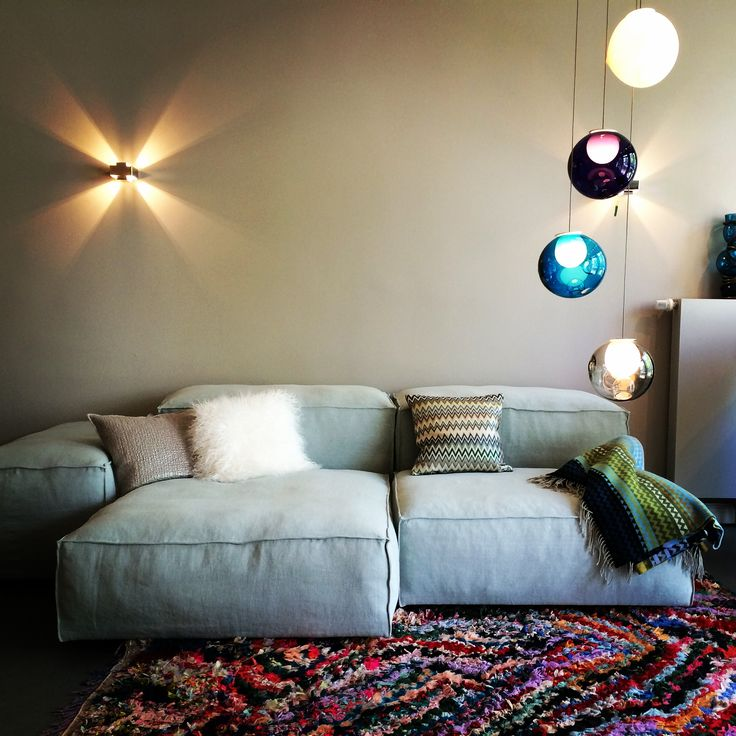 Living Divani Sofa Bocci Ceiling Lamp Colorful Rug Missoni