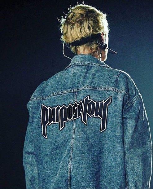 Jacket: justin bieber, purpose tour, purpose, denim jacket, blouse ...