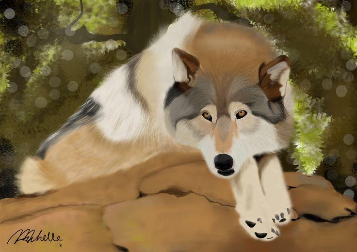 """WOLF"" Animal Digital Painting"