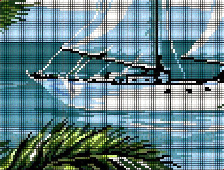 Crochet Knitting Artigianato: barca 2