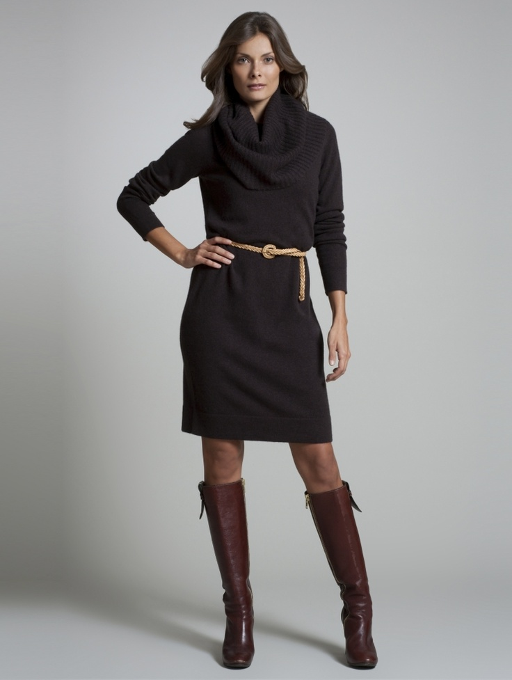 Park Art|My WordPress Blog_Gray Sweater Dress With Brown Boots