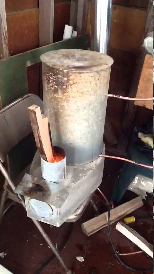 Rocket Stove water heater test 1