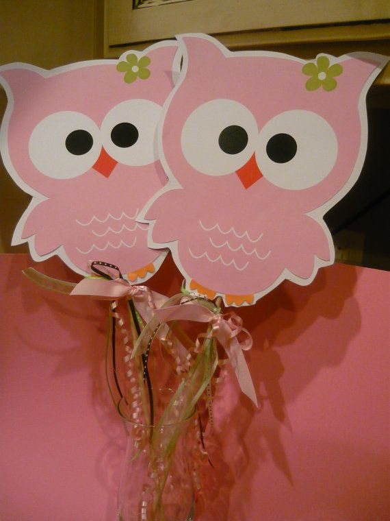 Owl birthday decorations owl party favor by TresChicPartyDesigns, $28.00