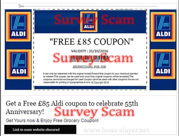 Circulating Facebook post claims that you can click to get a free Aldi coupon worth £85.