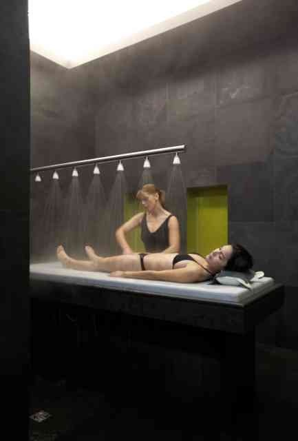 Under the Vichy    Combine the healing power of water and the therapeutic benefits of a  relaxing massage in one experience –a water dance to balance the body  and surrender the mind into a state of pure relaxation.