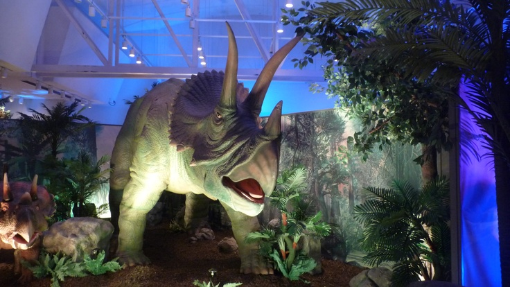 A prehistoric creature at DINOSAURS UNEARTHED AT MANITOBA MUSEUM WINNIPEG CANADA