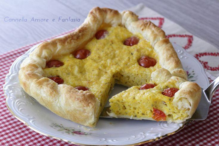 Torta salata mediterranea a forma di cuore +