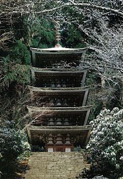 土門拳 室生寺雪の五重塔全景 1978(昭和53)年