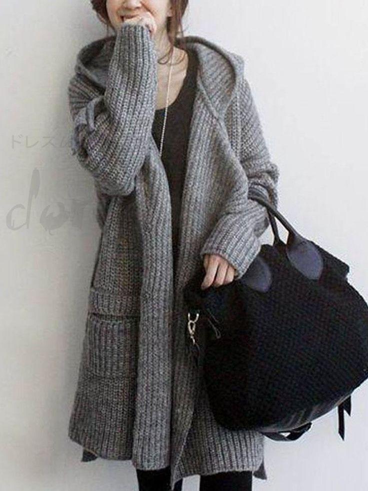 秋冬レディース ファッション シンプルカジュアル長袖ニットカーディガン 11461658 - アウターウェア - Doresuwe.Com