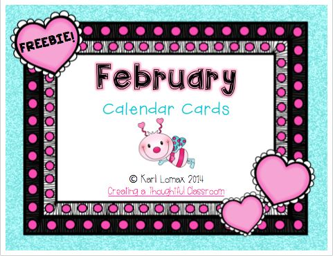 Creating a Thoughtful Classroom: A February Calendar FREEBIE! There is no 29 but, if it's not a leap year they are super cute!