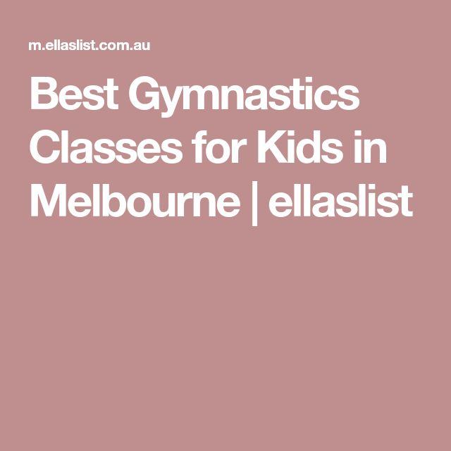 Best Gymnastics Classes for Kids in Melbourne | ellaslist