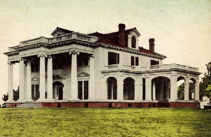 Home of C. S. Butterfield and family in 1912 in Brookhaven, Mississippi.