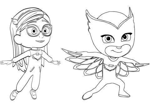 owlette coloring pages | 14 best pjmasks, heroes en pijamas para colorear images on ...