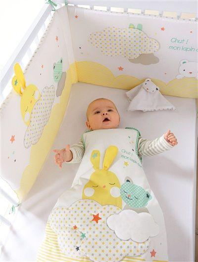 Tour de lit spécial éveil bébé thème Colorami JAUNE - vertbaudet enfant
