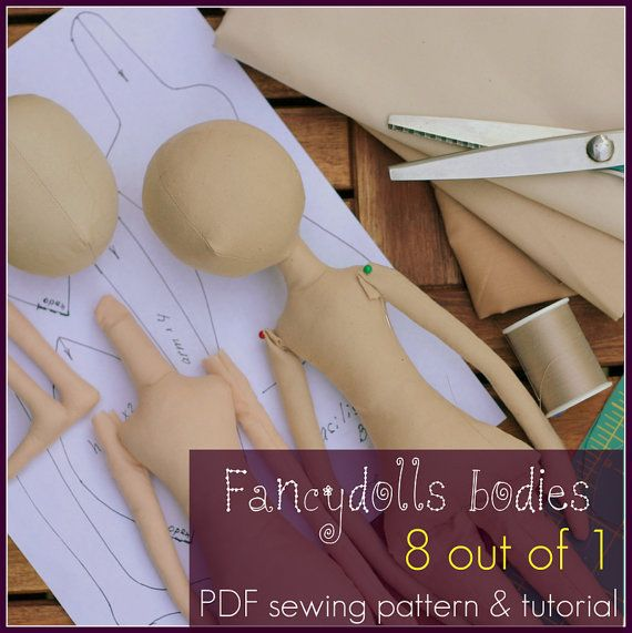 Cloth Doll Sewing Pattern & Tutorial Fancydolls bodies PDF  8 out of 1 DIY