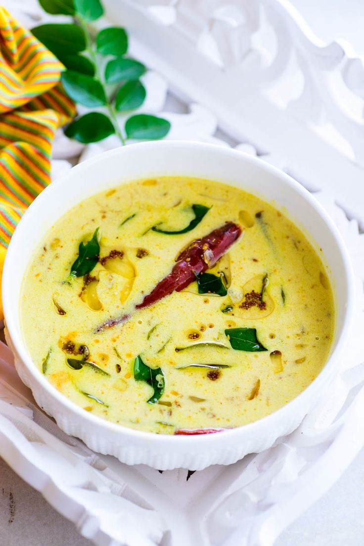 Moru Curry / Kerala Style Seasoned Buttermilk Curry | Onam Sadya Recipe - Like most of the Sadya dishes, this is also super quick and easy to make and hardly takes 5 minutes to whip up.