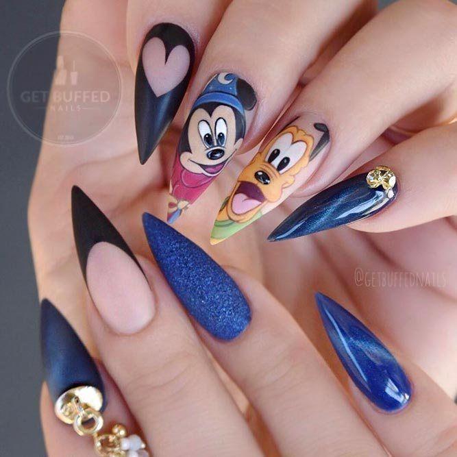 Inspirierende Disney Nails Ideen für Sie im Jahr 2018 zu versuchen