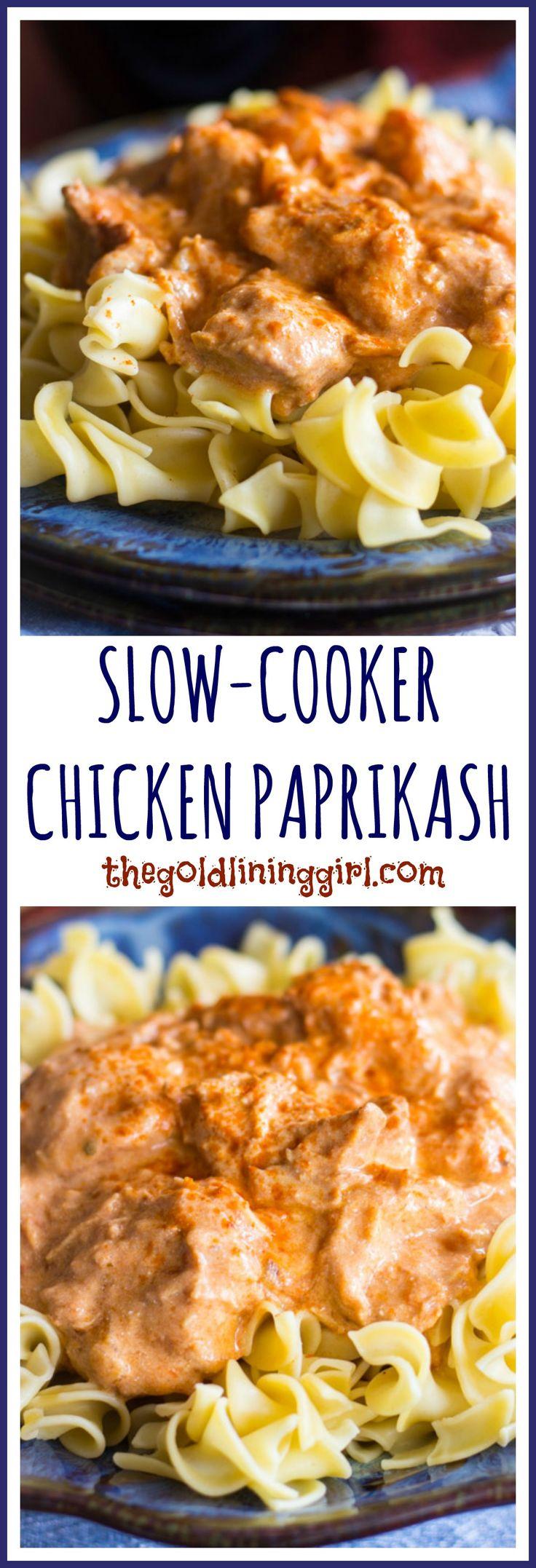 Slow-Cooker Chicken Paprikash pin