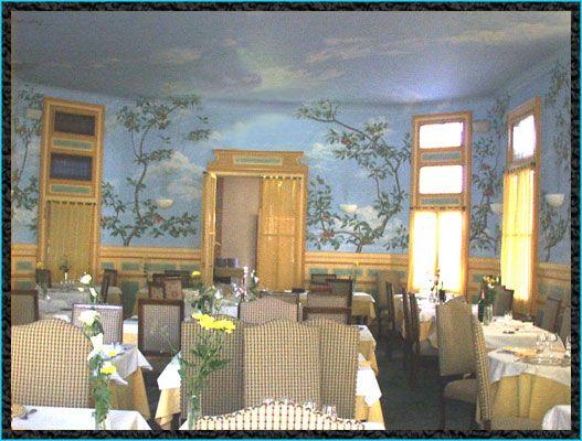 peinture décorative/murs et plafond/restaurant à Lamalou les bains