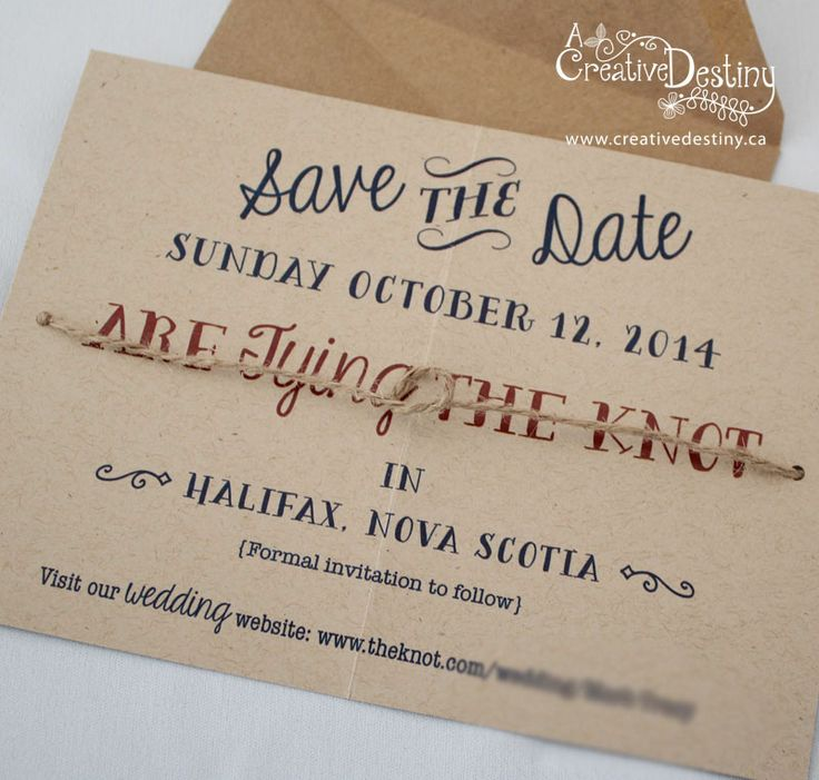 tie the knot save the date on