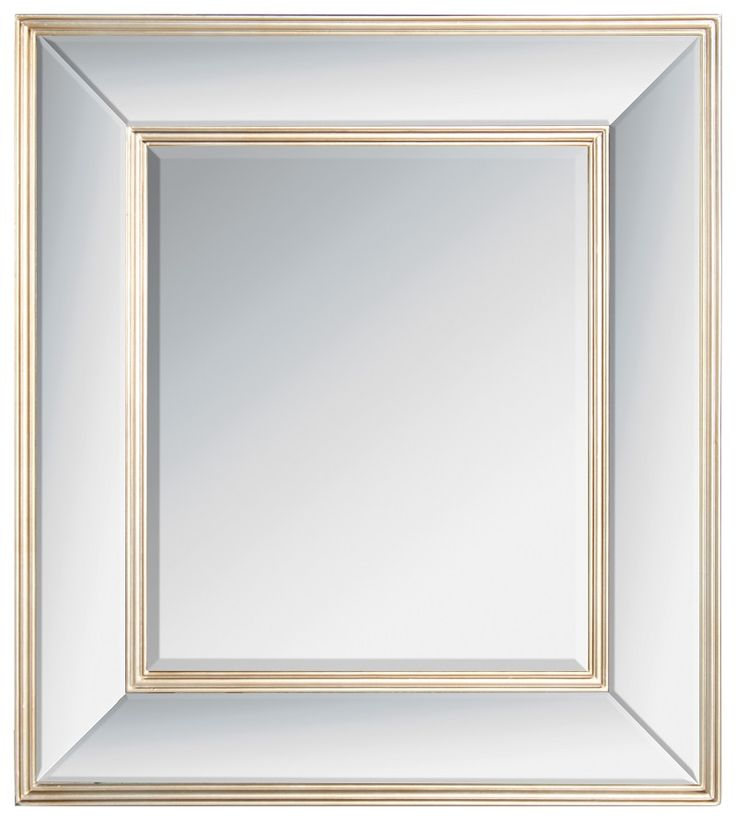 Marvelous wooden wall #mirror in champagne color. www.inart.com
