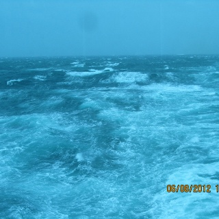 Seas A Little Rough 15 To 20 Foot Waves But On Board We Could Hardly Feel