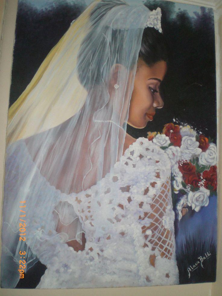 Pintura em tela Linda Mineira de Alacir Balbi