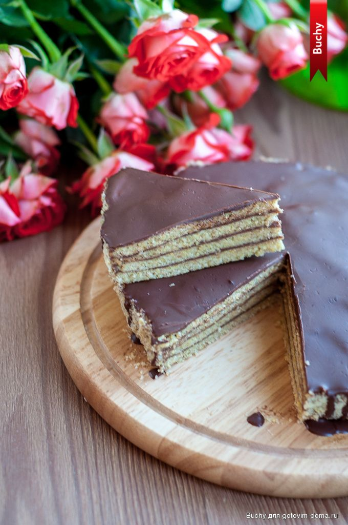 Постный торт с шоколадным кремом