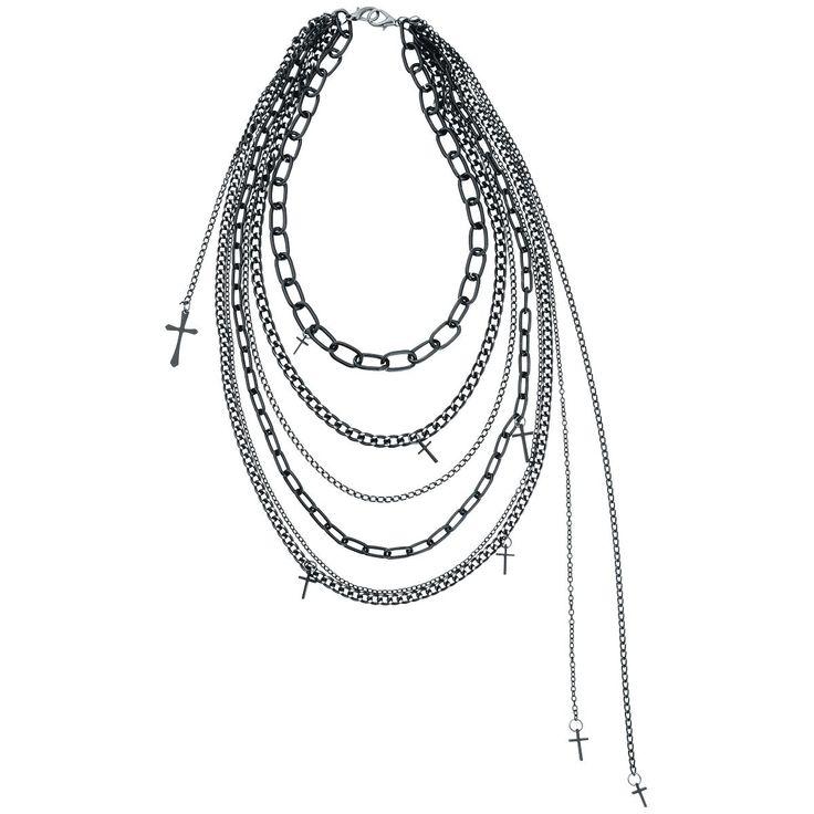 Just bought this cool Necklace -  Cross Chains Halskette  Diese lange Kette besteht aus mehreren einzelnen Ketten die im Nacken zusammen laufen. Ein absoluter Hingucker!  - Länge: ca. 55 cm - Hakenverschluss im Nacken