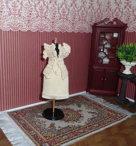 Giacchino e gonna in miniatura, Abbigliamento per bambole, Vestiti per mini-manichino, Miniature per Casa delle bambole, Scala 1:12