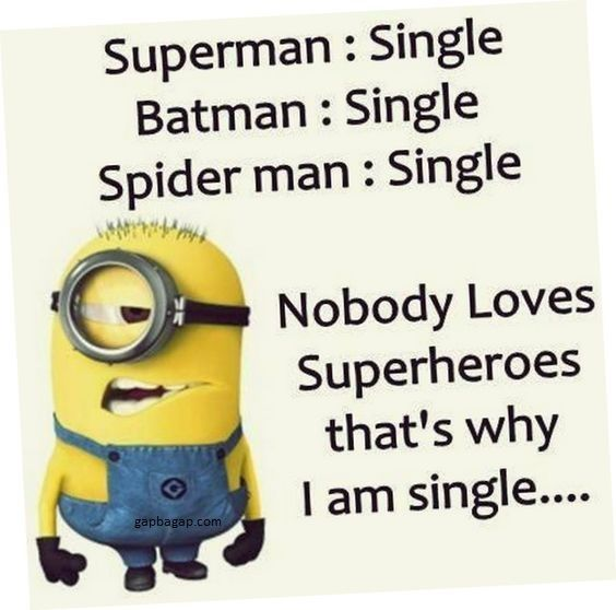 Funny Minion Jokes About Singles vs. Superman, Batman And Spider Man
