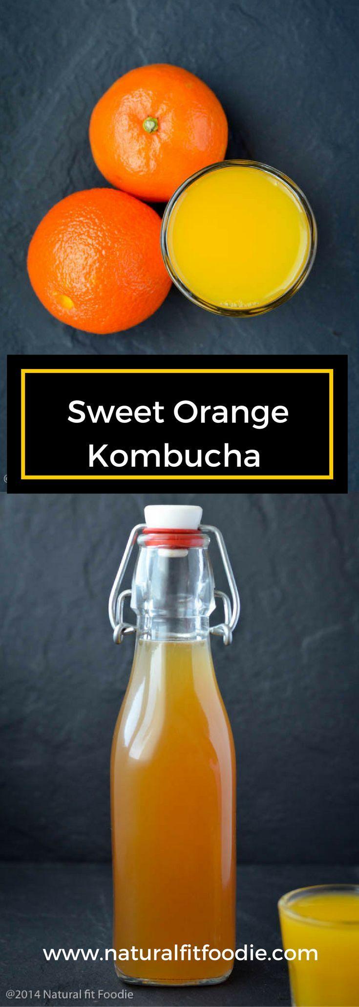 Sweet Orange Kombucha Recipe - Plus the complete guide on how to flavor Kombucha with secondary fermentation. #kombucha