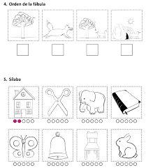 Resultado de imagen para prueba de lenguaje kinder para imprimir
