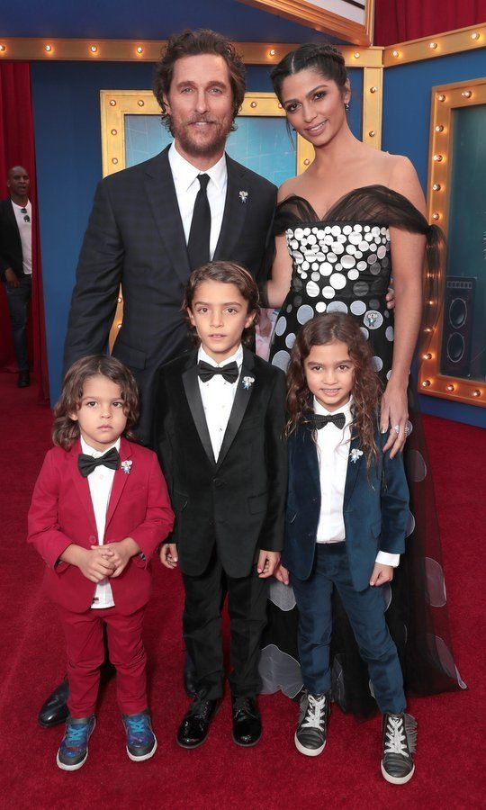 Matthew McConaughey and Camila Alves also brought along their three kids – Levi, eight, Vida, six, and three-year-old Livingston, all wearing adorable suits and ties – for the premiere of 'Sing' in L.A.