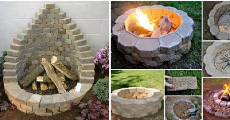 Voici 8 Modèles De Foyer Pour Le Jardin... Ils Sont Très Faciles À Faire, Et Pas Cher !