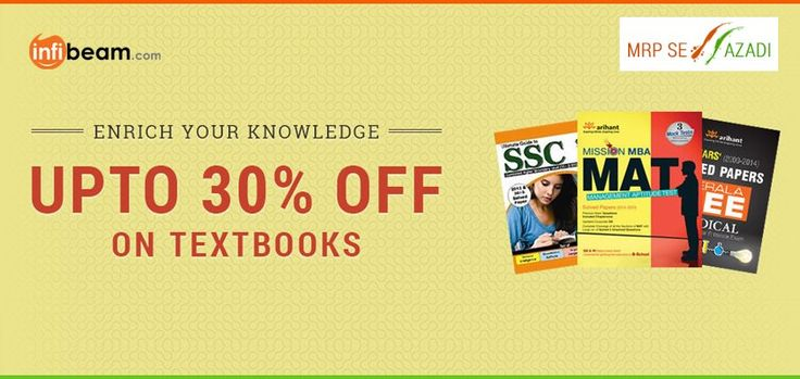 ENRICH YOUR KNOWLEDGE !   Now Get Up To 30% OFF on Textbooks !  #RepublicDay #Offers #Discounts #Deals #Textbooks