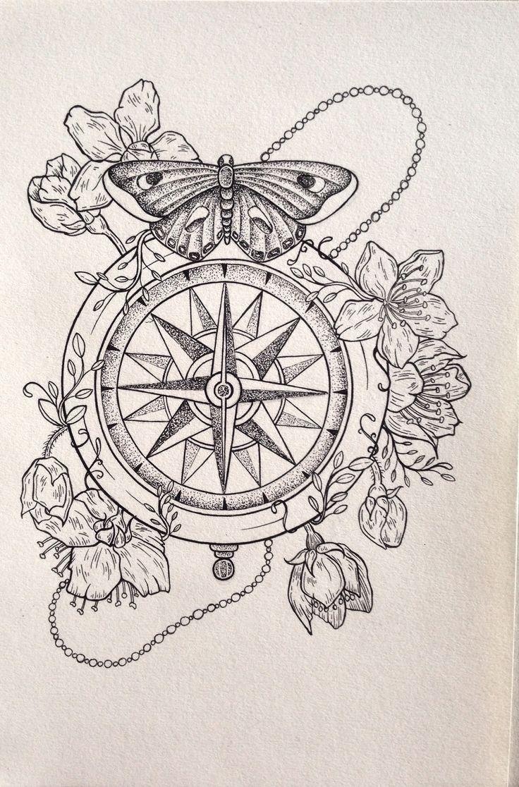 Mais De 1000 Ideias Sobre Bssola No Pinterest Tatuagens