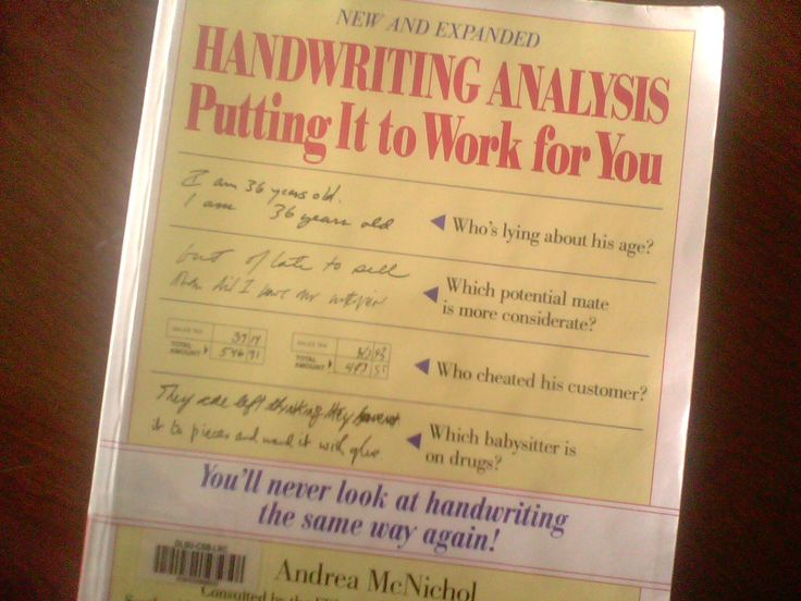 handwriting analysis putting it to work for you