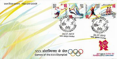 India 2012 fdc #london #olympics 4v set cover games #handball surfing rowing,  View more on the LINK: 	http://www.zeppy.io/product/gb/2/281237428289/