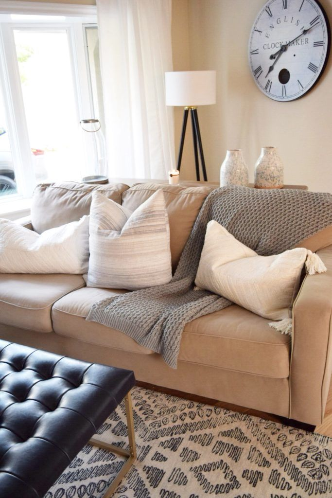 crazy chic design modern farmhouse style give your sofa an update rh pinterest com