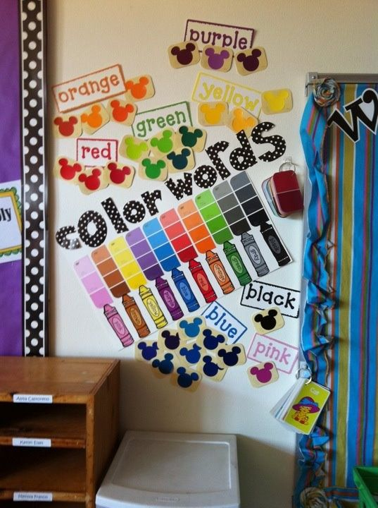 Classroom Ideas For Using Superflex ~ Love how they use paint samples to make the color words