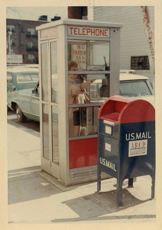 2 things we all seem to have forgotten about these days. Now instead of phone booths and mail boxes we have a mailbox ON our phone. who would have ever thought?