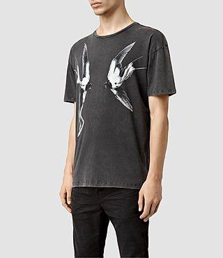SHIRT DAVID, SPIEGELUNG MOTIV   AllSaints Herren T-Shirts | Rundhals, V-Ausschnitt, Bedruckte & Polos