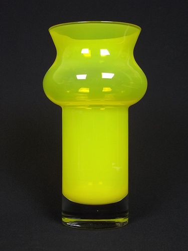 Aseda yellow cased glass vase by Bo Borgstrom