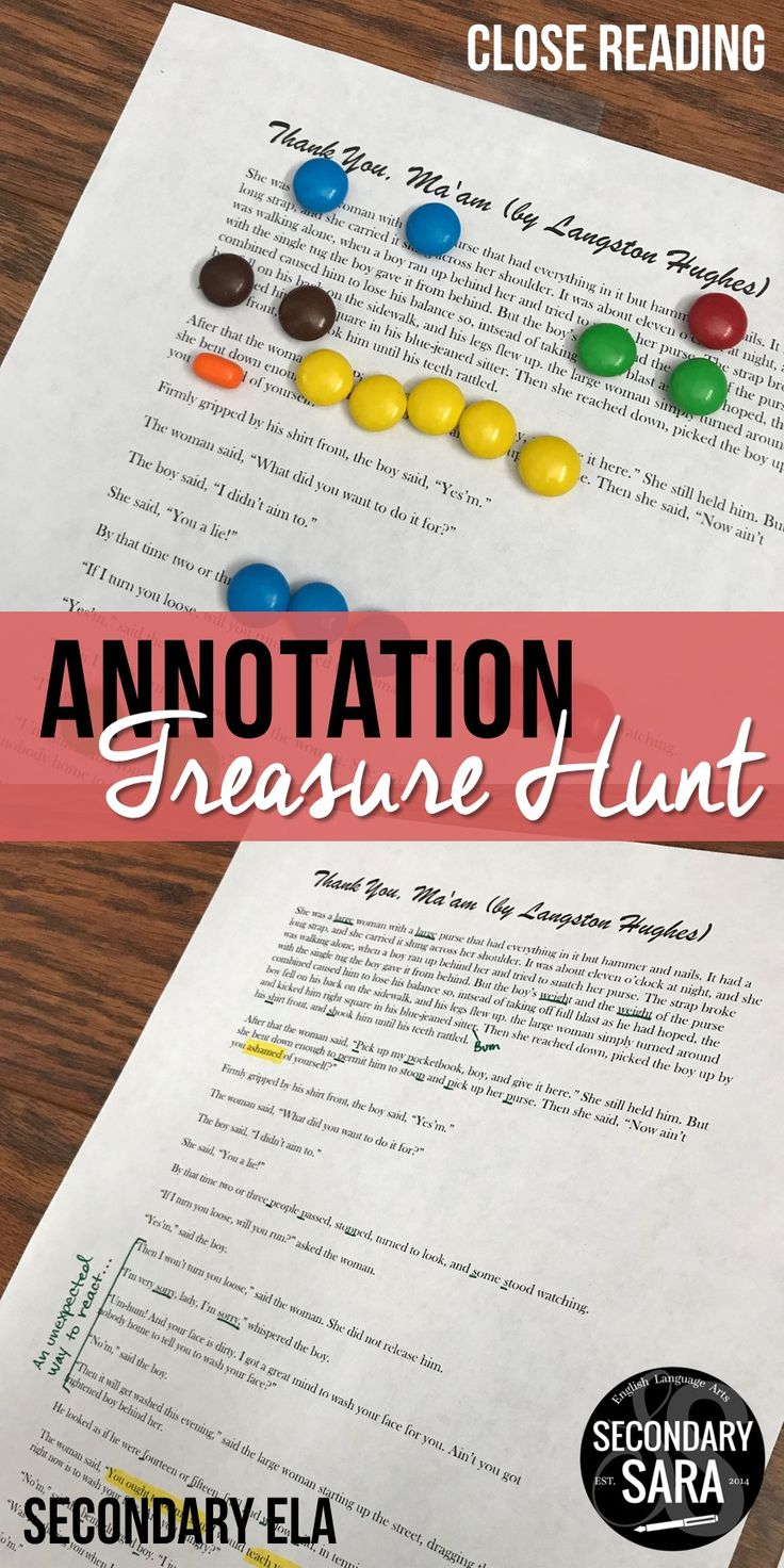 Give students a DELICIOUS crash course on close reading and annotation! Annotating is like a treasure hunt - you get to uncover gems that are hidden in plain sight! For middle school English and up!
