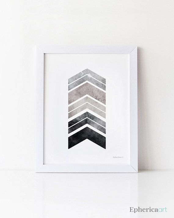 DIY Art • Download, save & print ♥ Gray chevron arrows printable art Great quality JPG image delivered via instant download Size: 8x10 inches (20.3 x